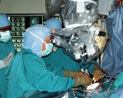 brain surgery operating room
