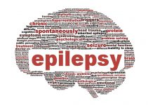 Epilepsy symbol isolated on white brain